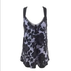 Silence & Noise Floral T-back Tank XS